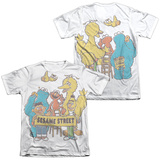 Sesame Street- Block Party (Front/Back) T-shirts