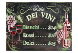 Vino and Grapes Chalkboard Menu Prints by Laurie Korsgaden