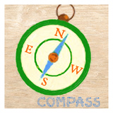 Compass Print by Taylor Greene