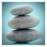 Stacking Stones 1 Teal Prints by Sandro De Carvalho