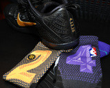 Kobe Bryant's Sneakers & Socks at his Last Game - Los Angeles Lakers vs Utah Jazz, April 13, 2016 Photo by Juan Ocampo