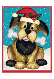 Christmas Puppy Art by Laurie Korsgaden