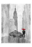NY Rain Poster by OnRei OnRei
