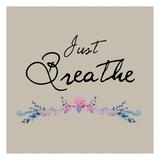Just Breathe Floral Reprodukcje autor Victoria Brown