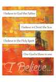 I Believe Confirmation 4 Posters by Melody Hogan