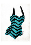 Vintage Swimsuit Four Posters by OnRei OnRei