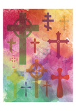 Watercolor Cross 1 Kunst af Melody Hogan