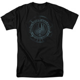 Battle Star Galactica- Faded Insignia Shirts