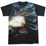 Battle Star Galactica- Viper Cockpit Black Back T-shirts