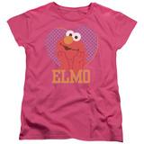 Womans: Sesame Street- Big Heart Elmo T-shirts
