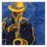 Sax Blues Prints by Taylor Greene