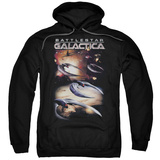 Hoodie: Battle Star Galactica- Cylon Attack Pullover Hoodie