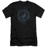 Battle Star Galactica- Faded Insignia (Slim Fit) T-Shirt
