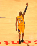 Kobe Bryant 24 Acknowledges the Crowd after his Last Game - April 13, 2016 Photo by Jesse D. Garrabrant