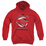 Youth Hoodie: Chevy- Retro Camaro Pullover Hoodie