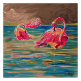 Trio Flamingos Prints by Anne Ormsby