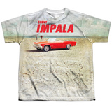 Youth: Chevy- Beach Impala At The Beach T-shirts