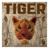 Safari Set 4 Tiger Posters by Melody Hogan