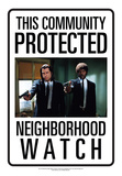 Protected By Pulp Fiction Tin Sign