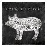 Farm To Pig Kunstdrucke von Jace Grey