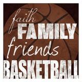 Basketball Friends Posters van Lauren Gibbons