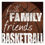 Basketball Friends Prints by Lauren Gibbons