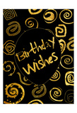 Golden Birthday Wishes Posters by Sheldon Lewis