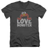 Sesame Street- Elmo Love Monster V-Neck T-shirts