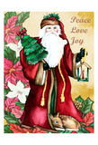 Peace Love Joy Poster by Laurie Korsgaden