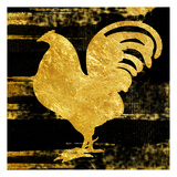 Gold Rush Rooster Art by Sheldon Lewis