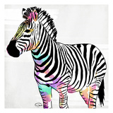 Zebra Head Colorful Posters by OnRei OnRei