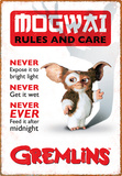Gremlins - Rules Tin Sign