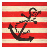 Anchor Stripe Art by Taylor Greene
