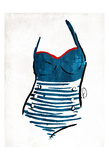 Vintage Swimsuit One Prints by OnRei OnRei