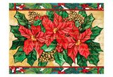 Poinsettas Prints by Laurie Korsgaden