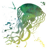 Jellyfish Splatter Art by Jace Grey
