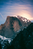 Magic Moon Light. Half Dome, Yosemite National Park, Hiking Outdoors Photographic Print by Vincent James