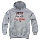 Youth Hoodie: Chevy- Monte Carlo '73 Car Of The Year Pullover Hoodie