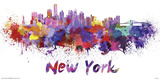 New York- Watercolors Inundation Prints