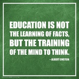 Albert Einstein- Education Explained Posters
