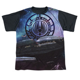 Youth: Battle Star Galactica- Desperate Odessy Black Back T-Shirt