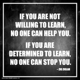 Zig Ziglar- Determined To Learn Poster