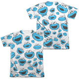 Sesame Street- Lots Of Cookie Monster (Front/Back) Shirts