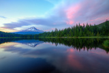 Summer Sunset Reflection at Trillium Lake, Oregon Wilderness Photographic Print by Vincent James
