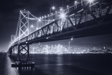 Classic Black and White Night in the City - San Francisco, California Photographic Print by Vincent James