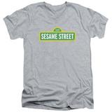 Sesame Street- Logo V-Neck T-Shirt