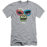 Sesame Street- Three Lively Monsters (Slim Fit) Shirts