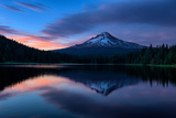 Mellow Evening at Trillium Lake Reflection, Summer Mount Hood Oregon Photographic Print by Vincent James
