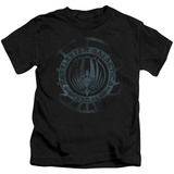 Juvenile: Battle Star Galactica- Faded Insignia T-Shirt