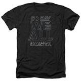 Battle Star Galactica- So Say We All Stencil T-Shirt